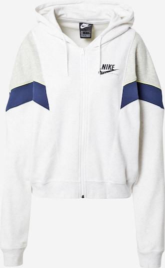 Giacca di felpa 'Heritage' Nike Sportswear di colore navy / giallo / grigio chiaro / nero / offwhite, Visualizzazione prodotti