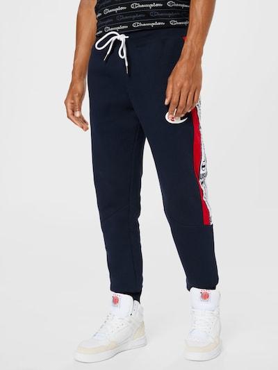 Pantaloni 'Off Court' Champion Authentic Athletic Apparel pe bleumarin / roșu / alb, Vizualizare model