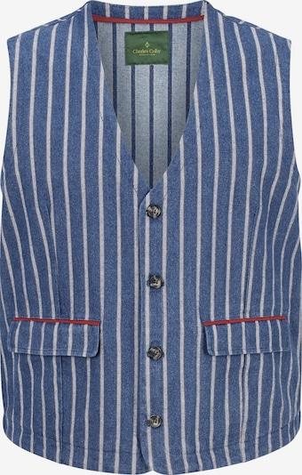 Charles Colby Gilet de costume 'Duke Firth' en bleu-gris / rouge / blanc, Vue avec produit