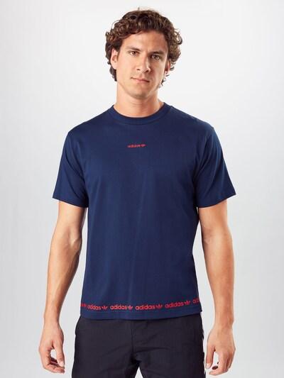 ADIDAS ORIGINALS Majica u tamno plava / crvena: Prednji pogled