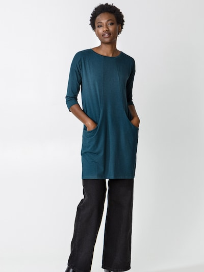 Indiska Tunika 'Linden' in dunkelblau, Modelansicht