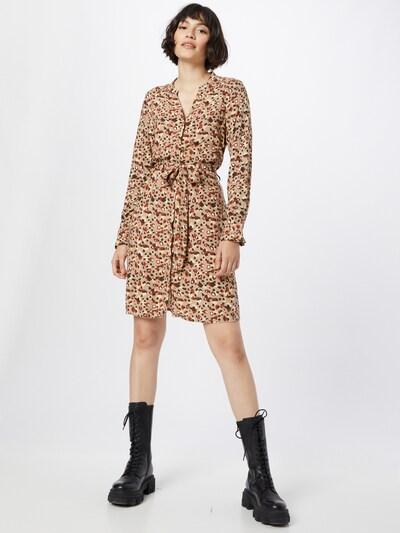 PIECES Košeľové šaty 'CARLY' - tmavobéžová / žltá / červená / čierna / biela, Model/-ka