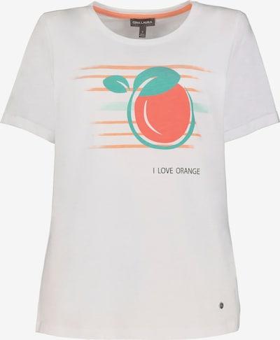 Gina Laura T-Shirt in blau / orange / weiß, Produktansicht