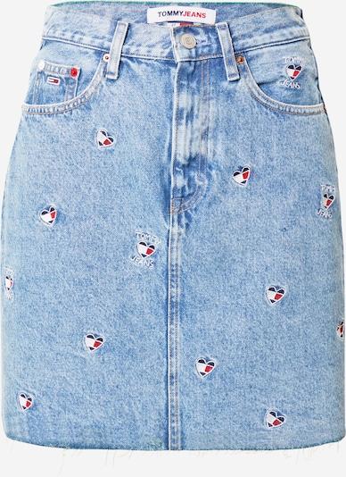 Fustă Tommy Jeans pe albastru deschis / roșu / alb, Vizualizare produs