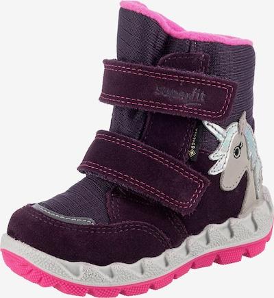 SUPERFIT Stiefel in dunkellila / pink / weiß, Produktansicht