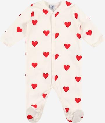PETIT BATEAU Pajamas 'DORS BIEN Y CHAUD' in White