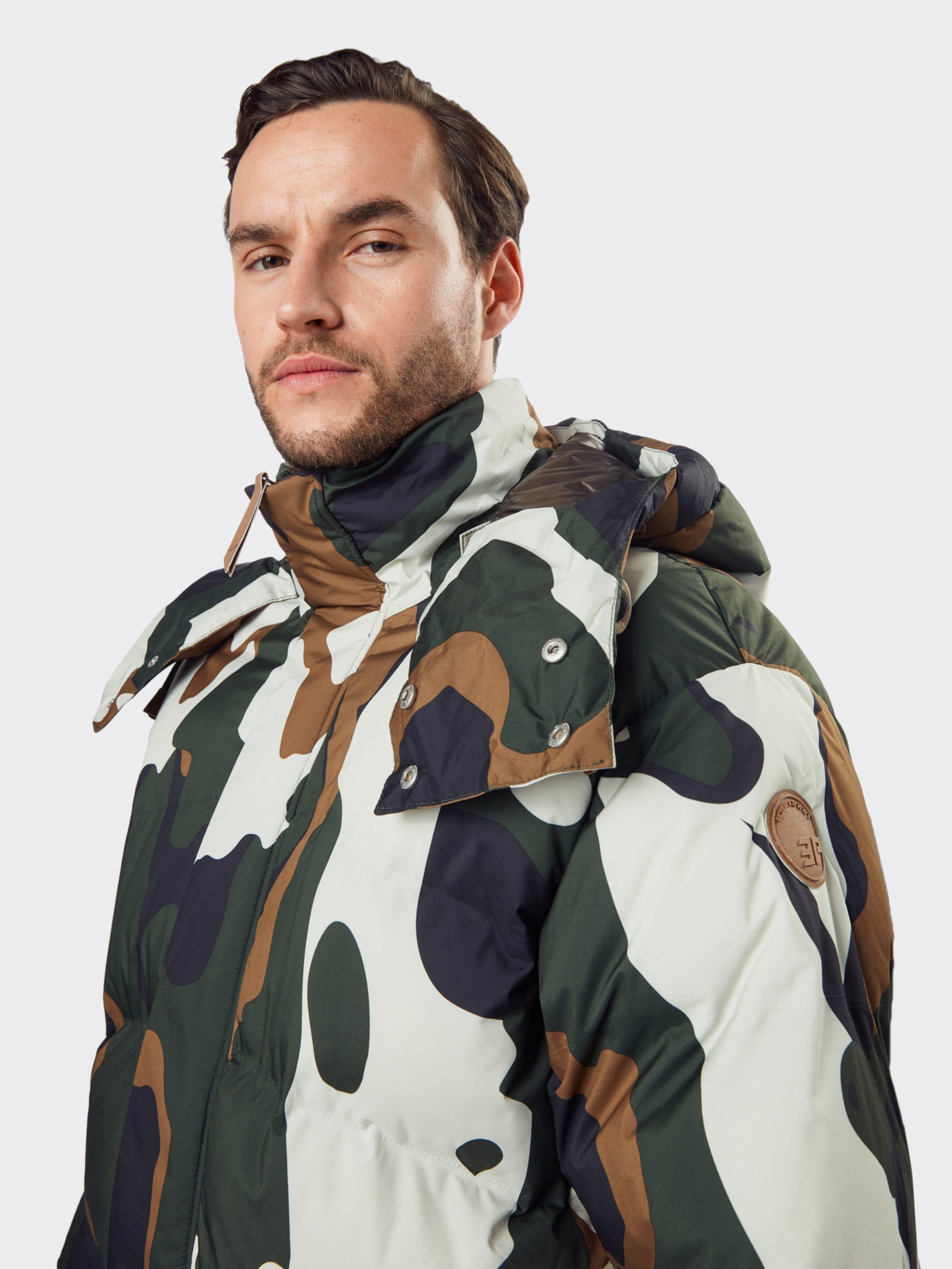 ICEPEAK Outdoorjacka i khaki / oliv / vit