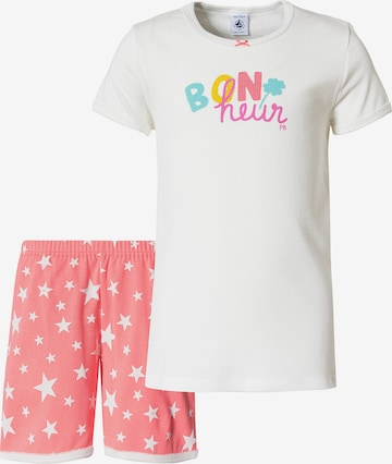 PETIT BATEAU Pyjama in Weiß
