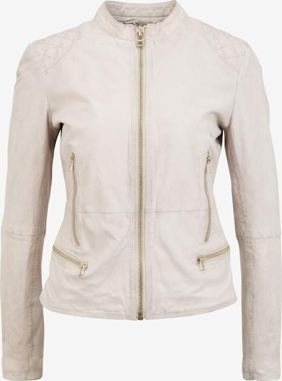 Goosecraft Biker Lederjacke 'SUPERNOVA' in weiß / wollweiß, Produktansicht