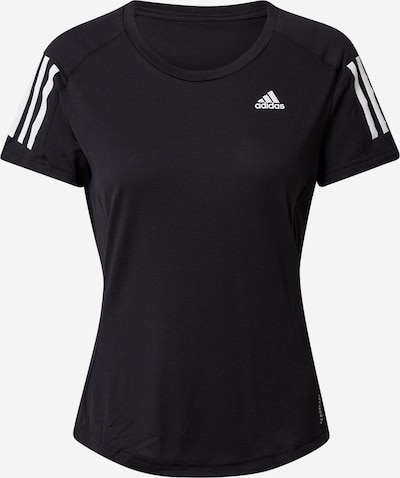 ADIDAS PERFORMANCE Sportshirt 'OWN THE RUN' in schwarz / weiß, Produktansicht