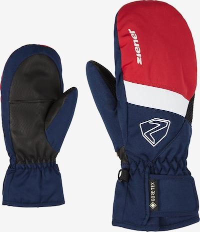 ZIENER Skihandschuhe 'LEVIN GTX MITTEN glove junior' in dunkelblau / rot / weiß, Produktansicht