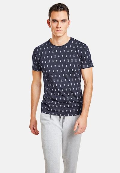 NEW IN TOWN T-Shirt mit Insekten-Print in blau / navy / dunkelblau: Frontalansicht