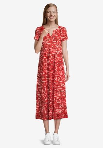 Vera Mont Sommerkleid mit Muster in Rot