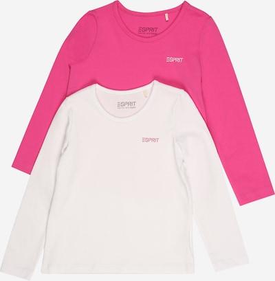 ESPRIT Тениска в неоново розово / бяло, Преглед на продукта