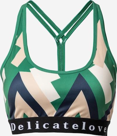 DELICATELOVE Sportovní podprsenka 'SHIVA' - námořnická modř / zelená / růžová / černá / bílá, Produkt