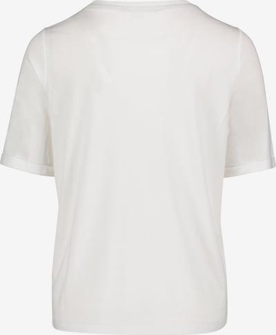 Cartoon Printshirt mit Rundhalsausschnitt in weiß, Produktansicht