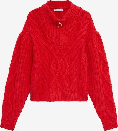 MANGO Pullover 'Zippo' in rot, Produktansicht