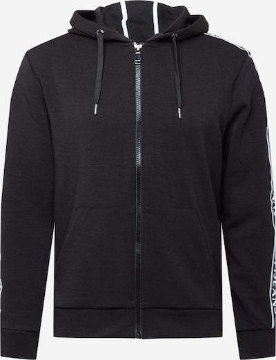 JOOP! Jeans Sweatjacke 'Augustin' in schwarz / weiß, Produktansicht