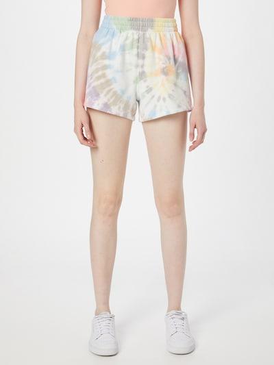 Abercrombie & Fitch Shorts in oliv / lila / orange / pink / weiß, Modelansicht