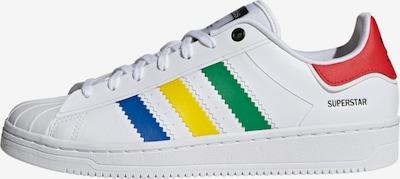 ADIDAS ORIGINALS Zemie brīvā laika apavi 'Superstar', krāsa - zils / dzeltens / zaļš / sarkans / balts, Preces skats
