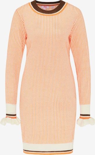 MYMO Strickkleid in orange / schwarz / weiß, Produktansicht