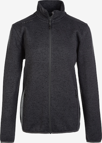 Whistler Athletic Fleece Jacket 'Maleo W Melange' in Grey
