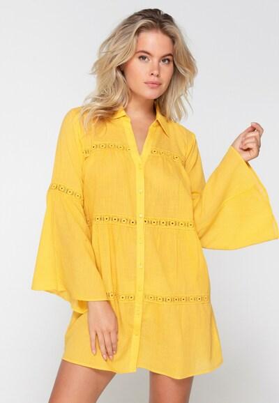 LingaDore Strandjurk in de kleur Geel, Modelweergave