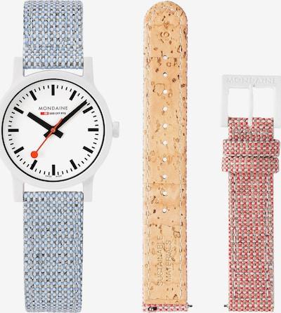 Mondaine Unisex-Uhren Analog Quarz ' ' in beige / hellblau / pink, Produktansicht