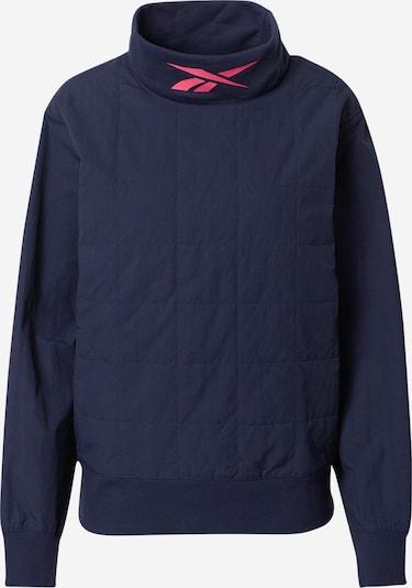 REEBOK Športna majica 'Cowl-Neck' | temno modra barva, Prikaz izdelka