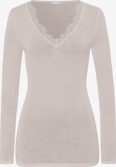 Hanro Onderhemd ' Woolen Lace ' in de kleur Offwhite, Productweergave