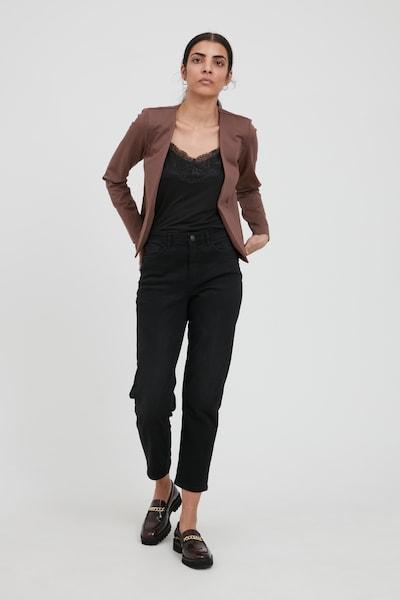 ICHI Blazers 'IHKATE' in de kleur Bruin, Modelweergave