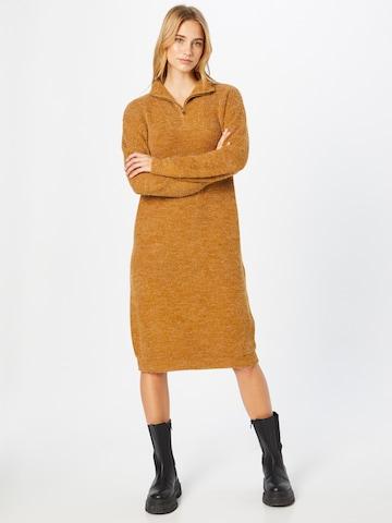 ICHI Knitted dress 'Ihnovo' in Brown