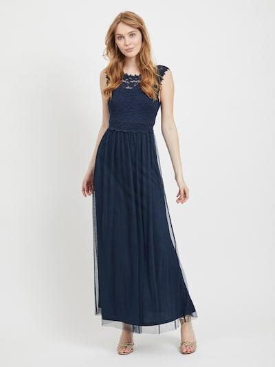 VILA Robe 'Lynnea' en bleu foncé, Vue avec modèle