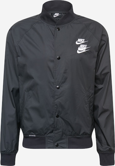 Nike Sportswear Chaqueta de entretiempo en negro / blanco, Vista del producto