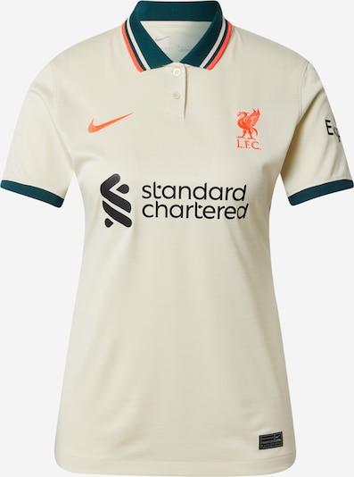 NIKE Functioneel shirt 'Liverpool FC 2021/22 Stadium Away' in de kleur Ivoor / Smaragd / Donkeroranje / Zwart, Productweergave