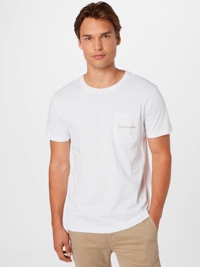 Calvin Klein Jeans T-Shirt in grau / weiß, Modelansicht