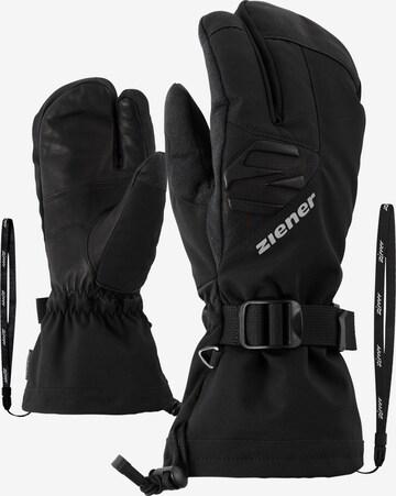 ZIENER Skihandschuhe 'GOFRIEDER AS(R) AW LOBSTER glove sk' in Schwarz