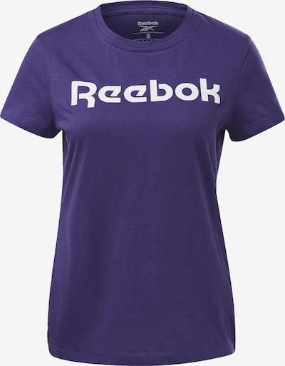 REEBOK Tehnička sportska majica u tamno ljubičasta / bijela, Pregled proizvoda