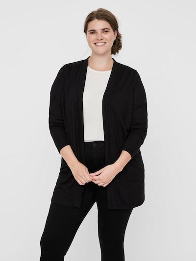 Junarose Strickjacke in schwarz, Modelansicht