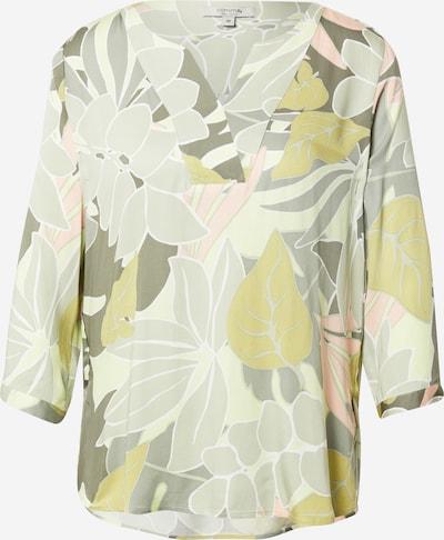 COMMA Bluse in khaki / schilf / hellgrün / rosa / weiß, Produktansicht