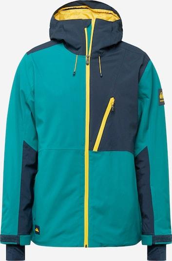 QUIKSILVER Športová bunda - tmavomodrá / žltá / zelená, Produkt