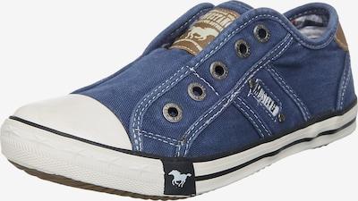 MUSTANG Sneaker in taubenblau / braun / weiß, Produktansicht