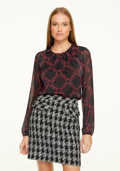 COMMA Bluse in rot / schwarz, Modelansicht