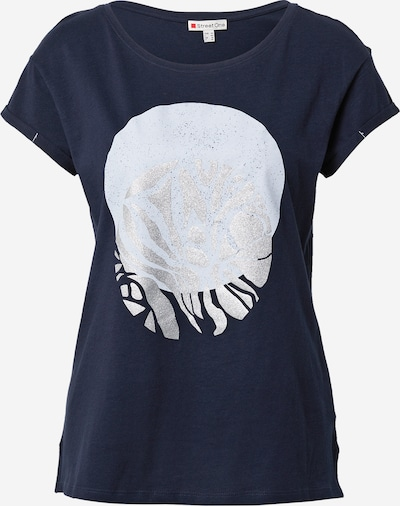STREET ONE Тениска в светлосиньо / тъмносиньо / сребърно, Преглед на продукта