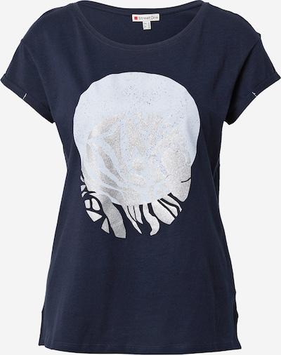 STREET ONE T-shirt en bleu clair / bleu foncé / argent, Vue avec produit