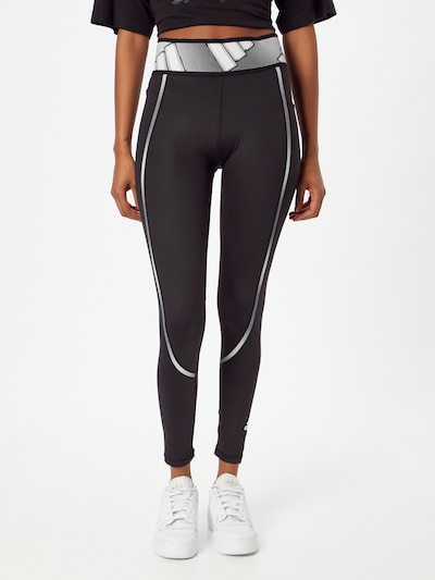 ADIDAS PERFORMANCE Workout Pants in Grey / Black, View model