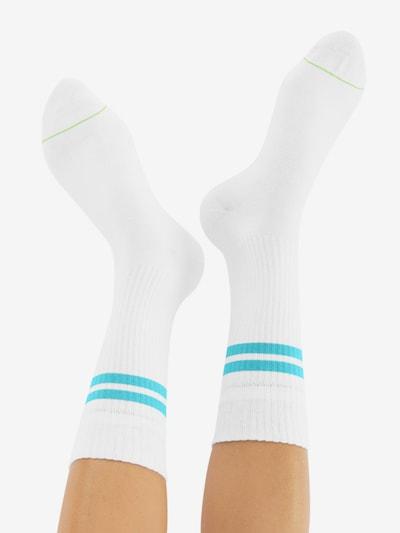 CHEERIO* Socken 'TENNIS TYPE' in türkis / weiß: Rückansicht