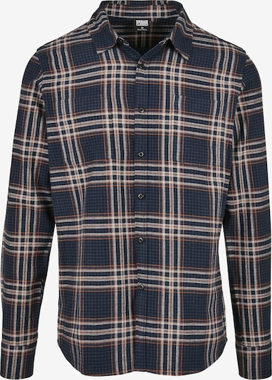 Urban Classics Hemd in navy / rostrot / weiß, Produktansicht