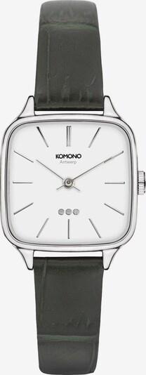 Komono Uhr in grün / schwarz / silber / weiß, Produktansicht
