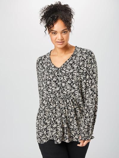 ONLY Carmakoma Bluse in schwarz / weiß, Modelansicht